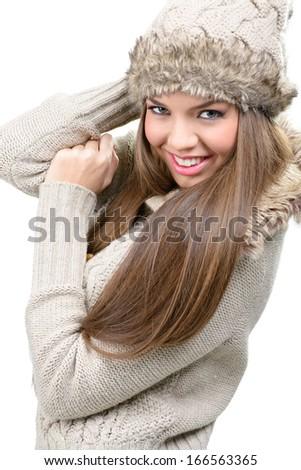 Fashion model - warm winter clothing