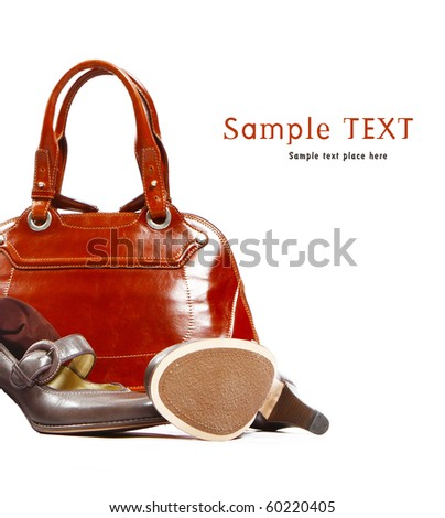 Fashion objects - Stylish women's leather bag and shoes