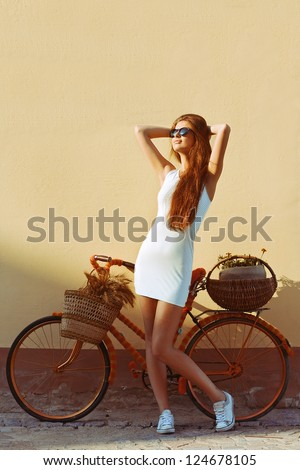 fashion outdoor portrait of...