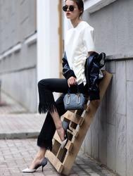 Fashion photo, Street style fashion. Professional model.