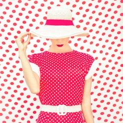 Fashion Polka Dots Woman