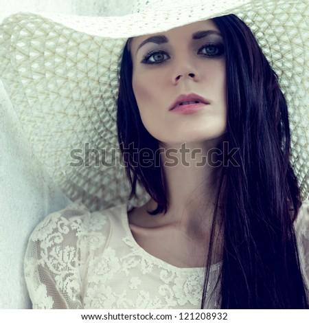 fashion portrait of a sensual girl i