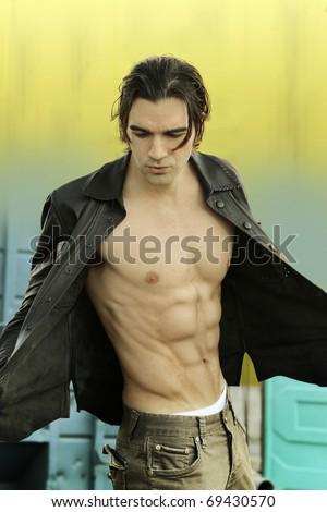 Popular Free Portrait of a sexy man with no shirt Photos | Avopix.com