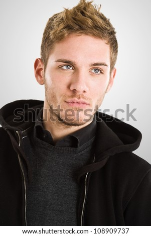 Fashion portrait of an handsome guy