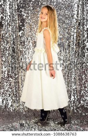 Fashion portrait of girl child. dress. fashion #1088638763