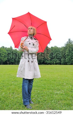 LADY WITH UMBRELLA  English Spaniel (liver) : Dog Lover Designs