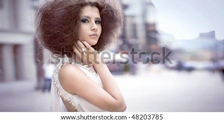 Fashion portrait on a street
