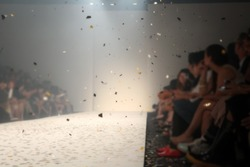 Fashion runway out of focus,blur background