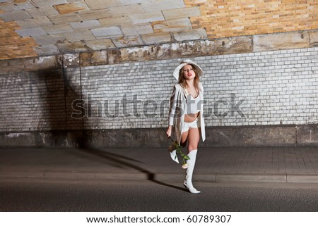 fashion shot of a young woman