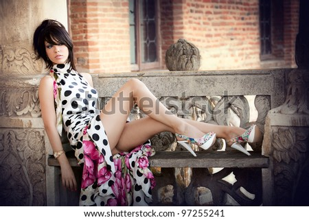 stock photo fashion shot of sexy elegant woman outdoors 97255241 ... from the musical business: the director of the video is Steve Antin, ...