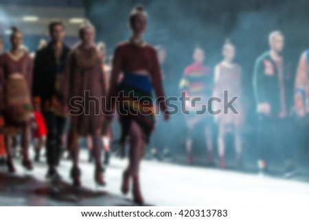 Fashion Show, A Catwalk Event, Blurred on Purpose #420313783