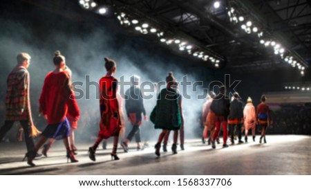 Fashion Show, Catwalk Event, Runway Show, Fashion Week themed photo. Blurred on purpose.