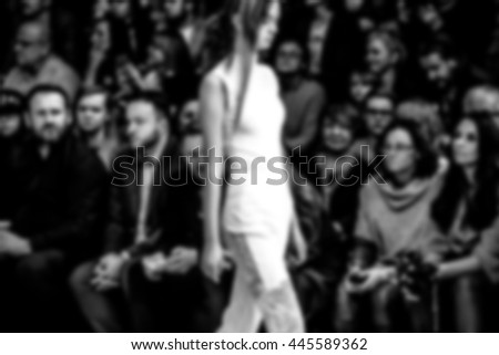 Fashion Show, Catwalk Event, Runway Show themed photo blurred on purpose #445589362