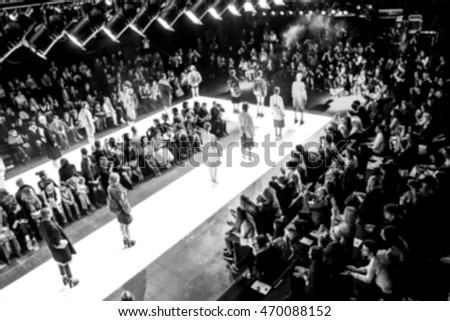 Fashion Show, Catwalk Event, Runway Show themed photo blurred on purpose #470088152