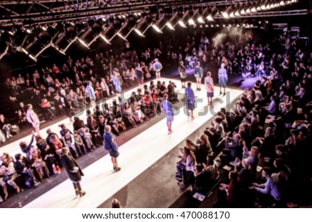 Fashion Show, Catwalk Event, Runway Show themed photo blurred on purpose #470088170