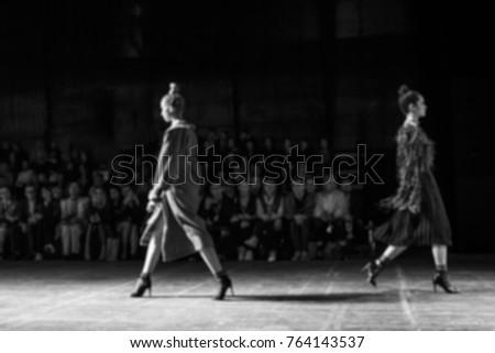 Fashion Show, Catwalk, Runway Event blurred on purpose #764143537