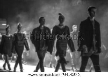 Fashion Show, Catwalk, Runway Event blurred on purpose #764143540