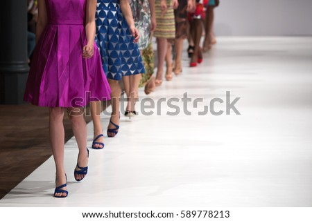 Fashion Show, Catwalk runway event, Fashion Week.