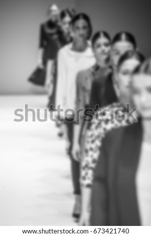 Fashion Show, Catwalk, Runway Event themed photo blurred on purpose #673421740
