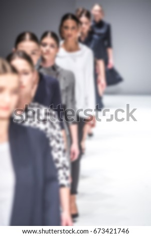 Fashion Show, Catwalk, Runway Event themed photo blurred on purpose #673421746