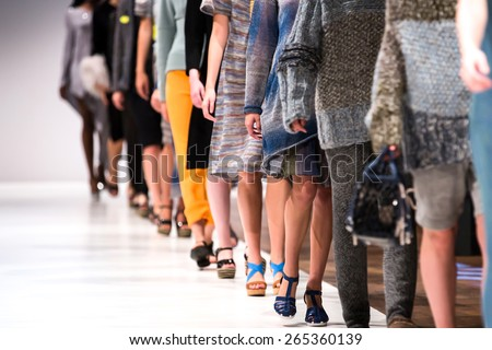 Fashion Show, Catwalk Runway Show Event, Fashion Week themed photograph. ストックフォト ©