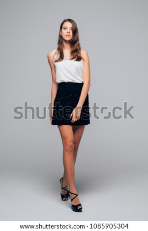 Stock Photo Fashion studio portrait of young elegant woman