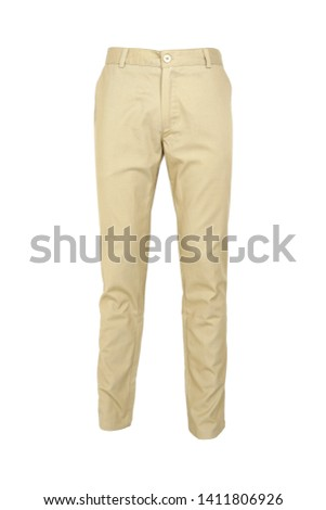 fashion, style  concept -Chino pants isolated on white background, khaki color #1411806926