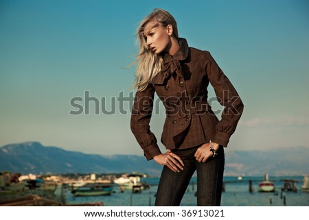 Fashion style photo of a young beauty