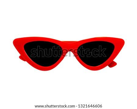 Fashion Sunglasses on white backgound #1321646606