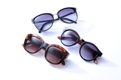 Fashion sunglasses on white background