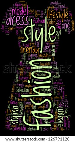 fashion symbol tag cloud pictogram