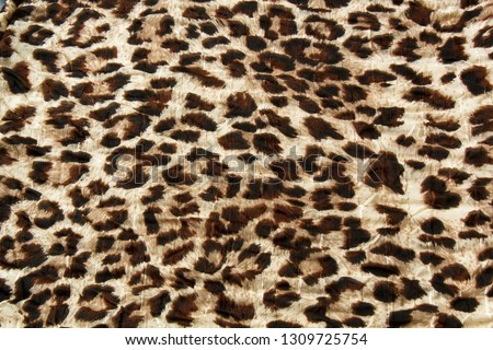 Fashion trendy fabric pattern with leopard skin print #1309725754