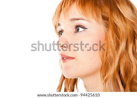 fashion woman isolated on a white background