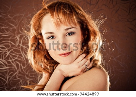 fashion woman on a brown background