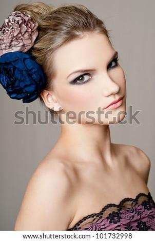 fashion woman with beautiful makeup