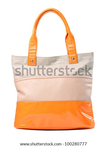 Fashion women bag isolated over white, with clipping path