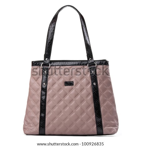 Fashion women shoulder bag isolated over white
