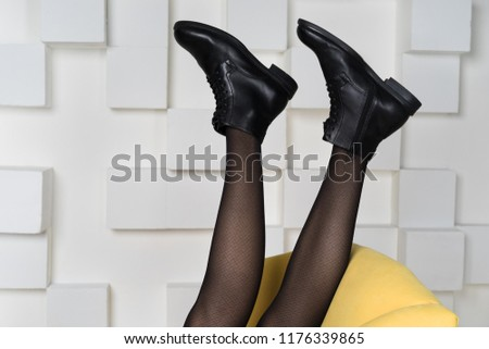 fashionable female feet #1176339865