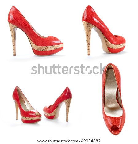 Fashionable female shoes #69054682
