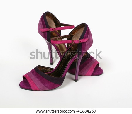 Fashionable female shoes on a light background