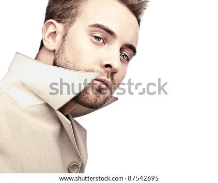 Fashionable handsome business man. Isolated over white background.