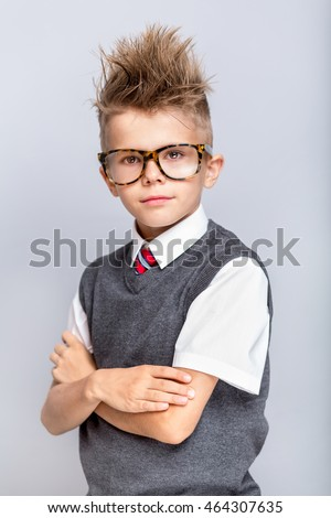 Free Photos Fashionable Little Boy In Sunglasses And Funny Hairstyle