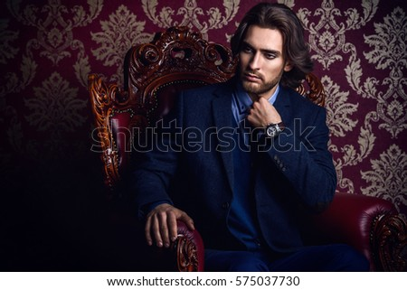 fashionable male model in...