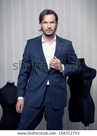 Fashionable Man in Suit