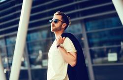 fashionable man in urban setting