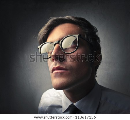 Fashionable man looking at someone