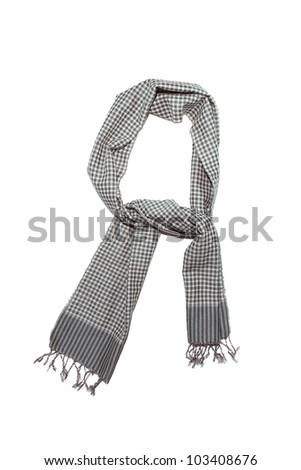 Fashionable scarf on  white background