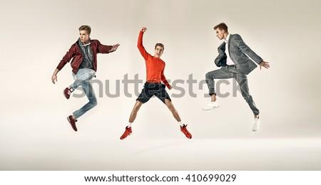 Fashionable sporty men
