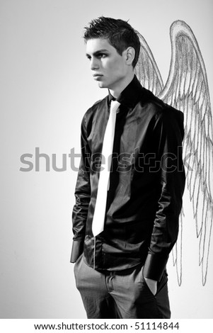 Fashionable stylish man in angel