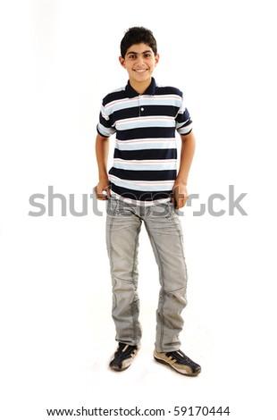 Fashionable teenager boy